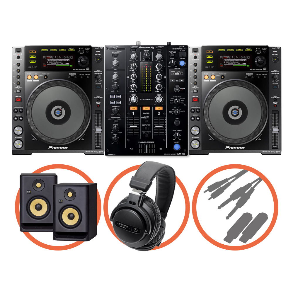Pioneer DJ <br>CDJ-850-K Beat FX Plus set