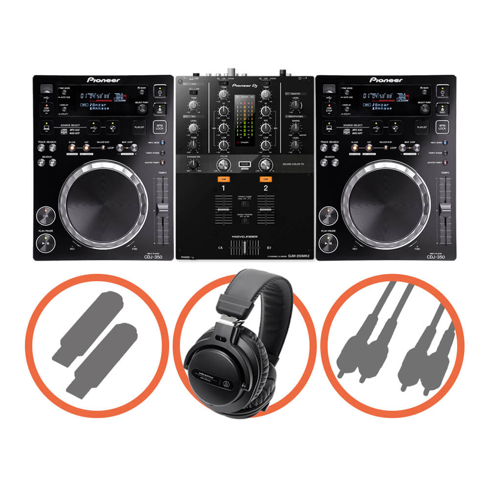 Pioneer DJ <br>CDJ-350 Scratch set