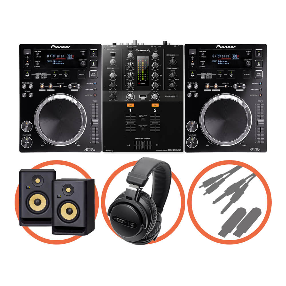Pioneer DJ <br>CDJ-350 Scratch Plus set