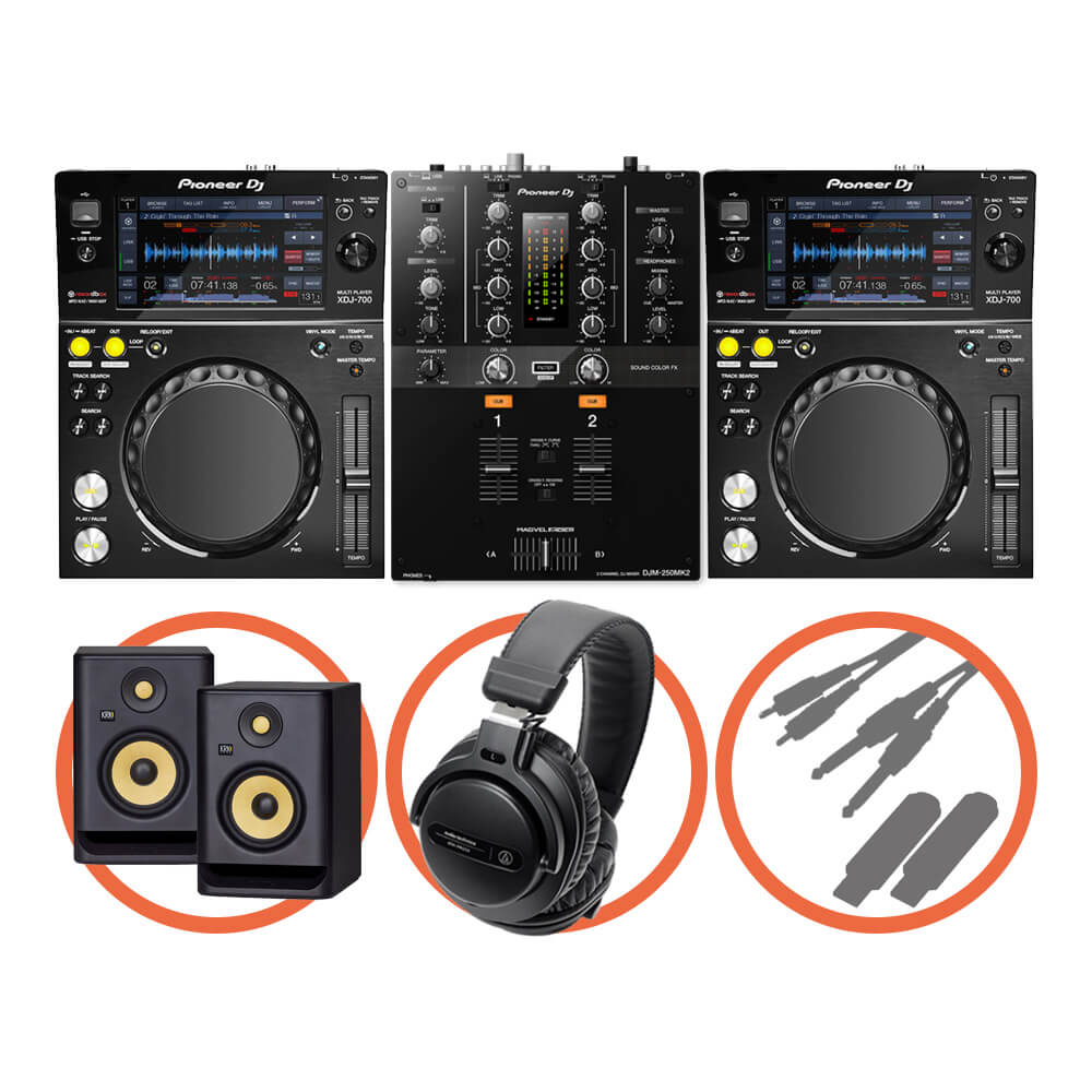 Pioneer DJ <br>XDJ-700 Scratch Plus set