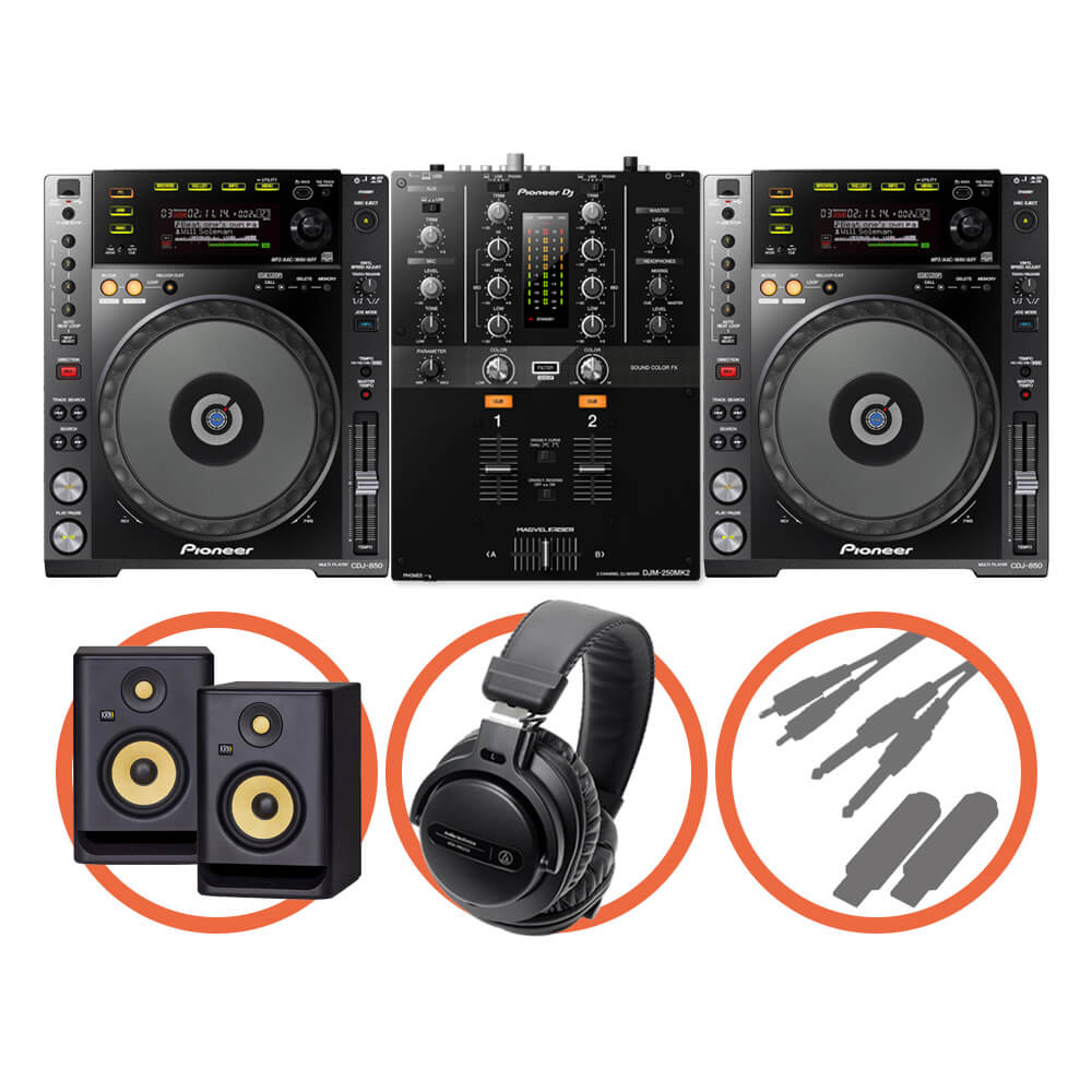 Pioneer DJ <br>CDJ-850-K Scratch Plus set