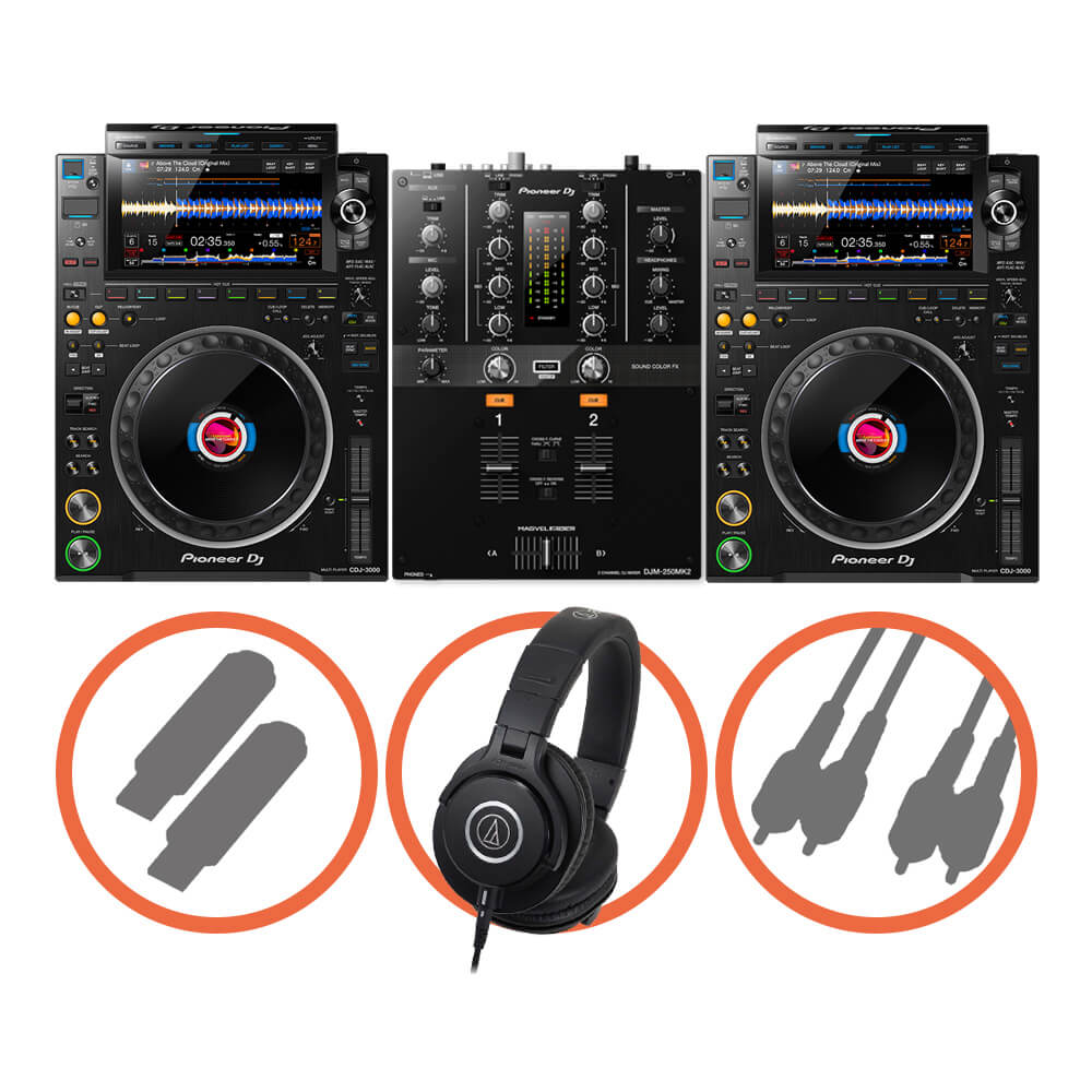 Pioneer DJ <br>CDJ-3000 Scratch set