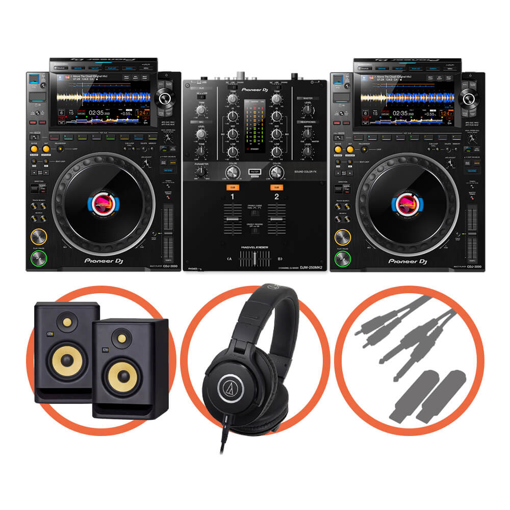Pioneer DJ <br>CDJ-3000 Scratch Plus set