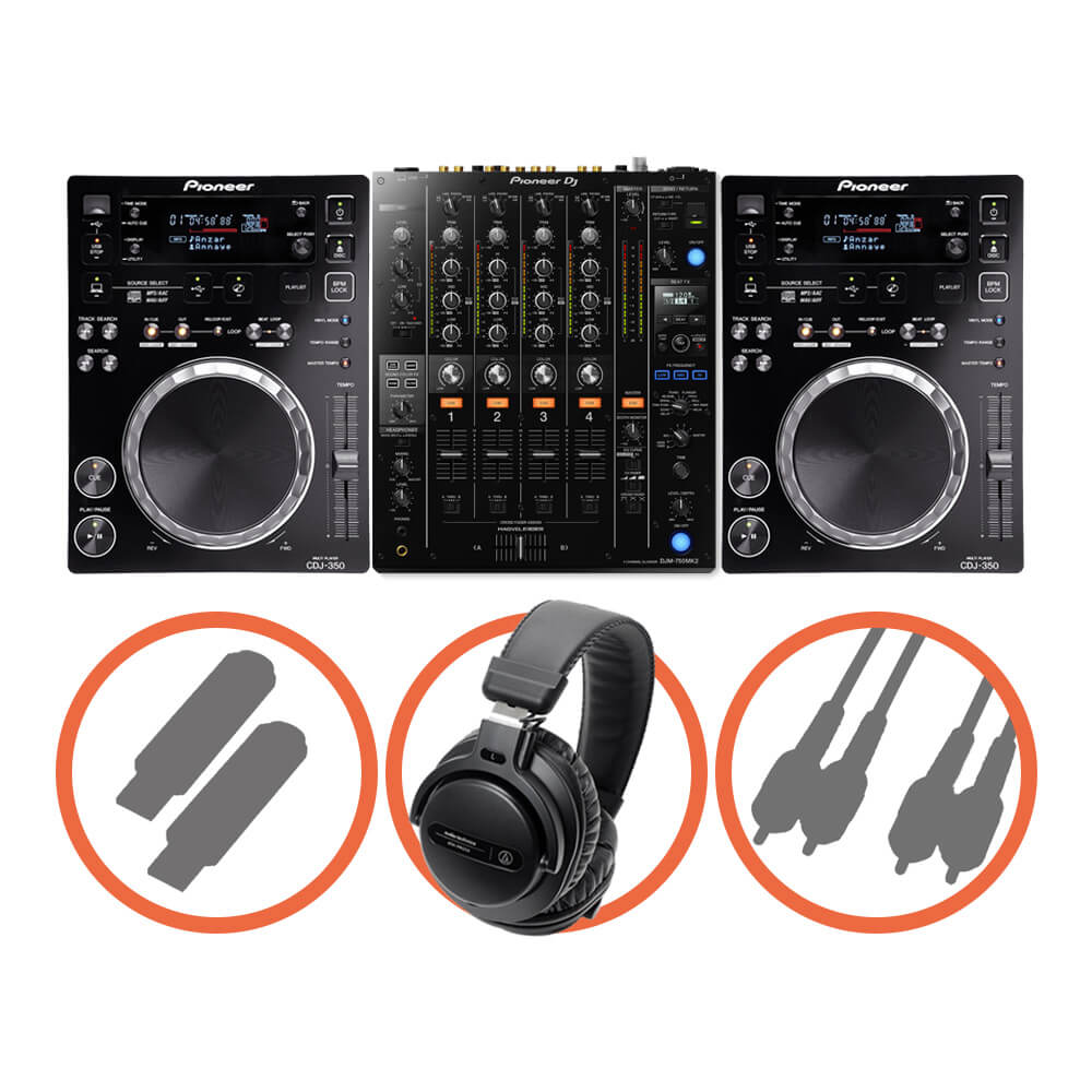 Pioneer DJ <br>CDJ-350 Club House set