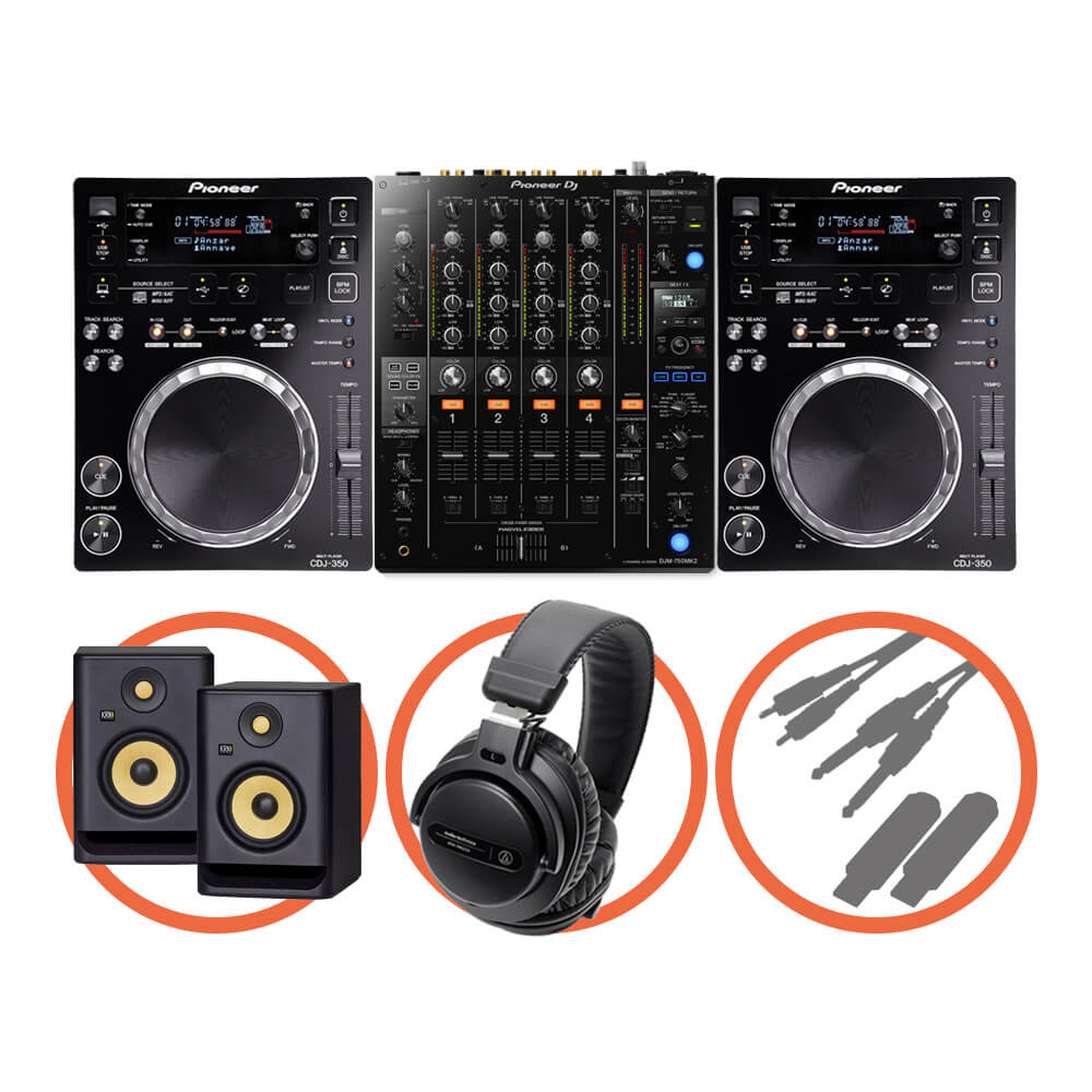 Pioneer DJ <br>CDJ-350 Club House Plus set