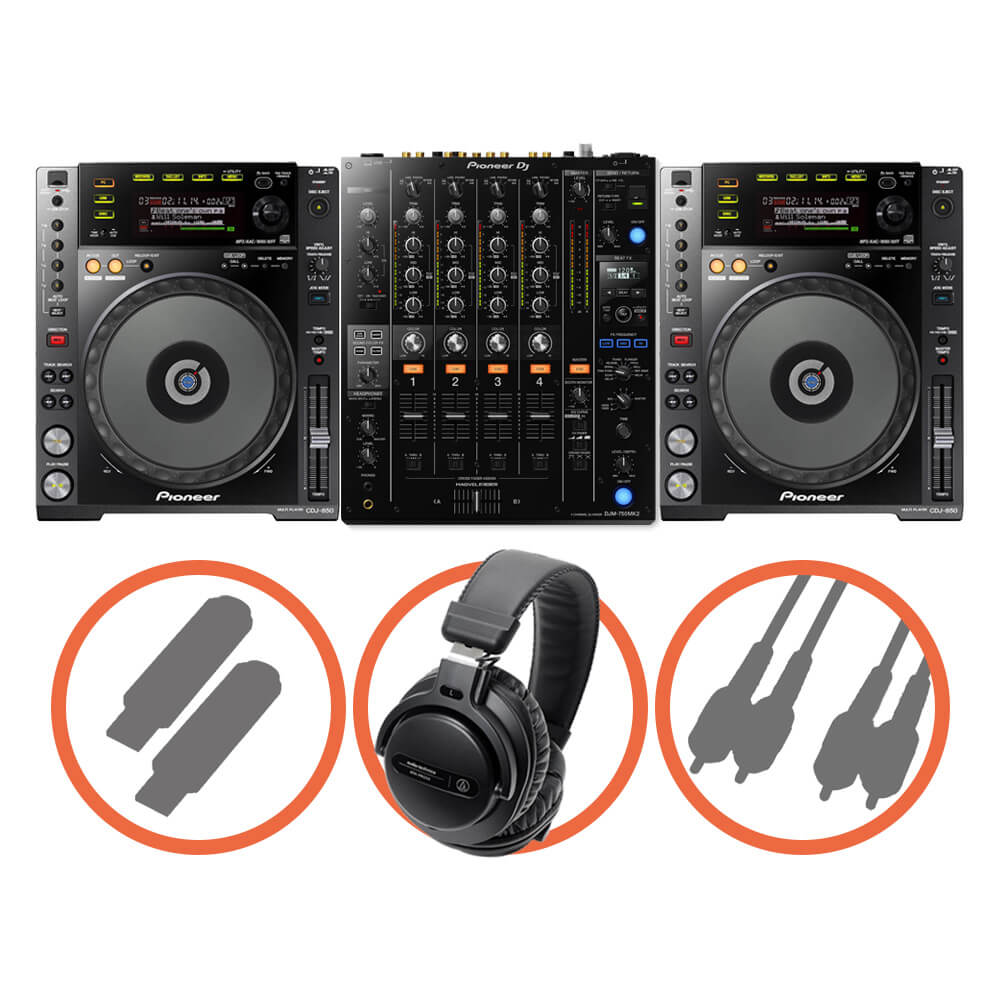 Pioneer DJ <br>CDJ-850-K Club House set