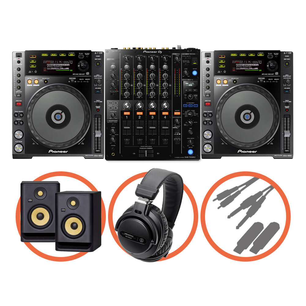 Pioneer DJ <br>CDJ-850-K Club House Plus set