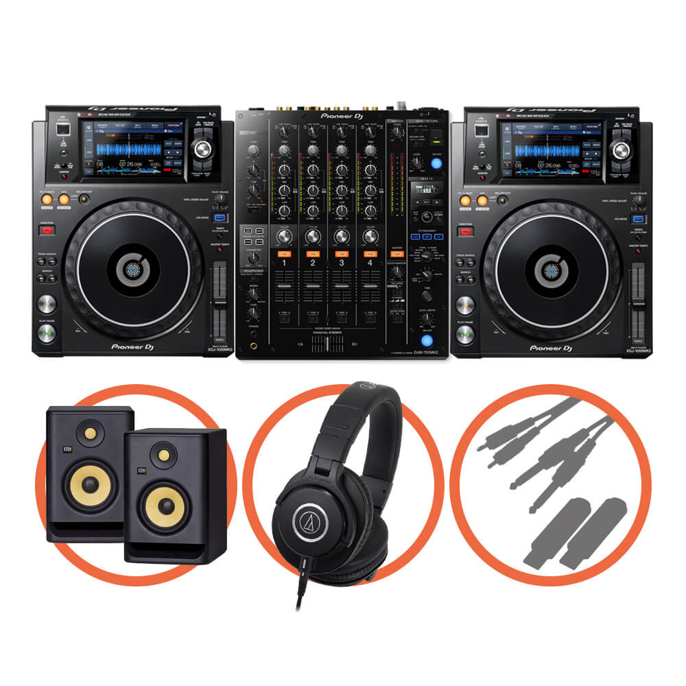 Pioneer DJ <br>XDJ-1000MK2 Club House Plus set