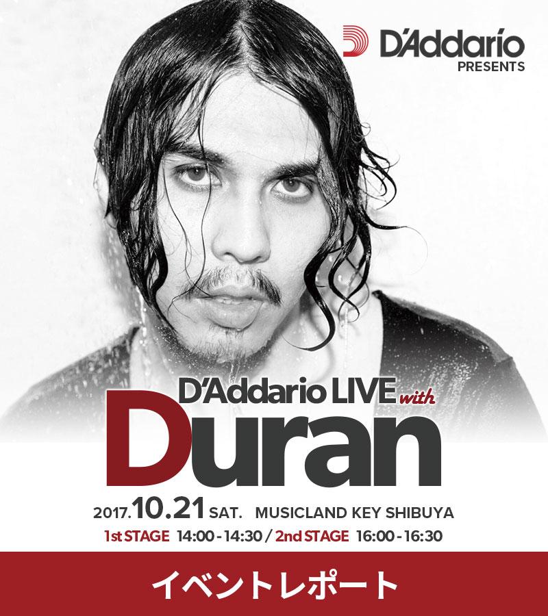 D'Addario LIVE with Duran at MUSICLAND KEY SHIBUYA