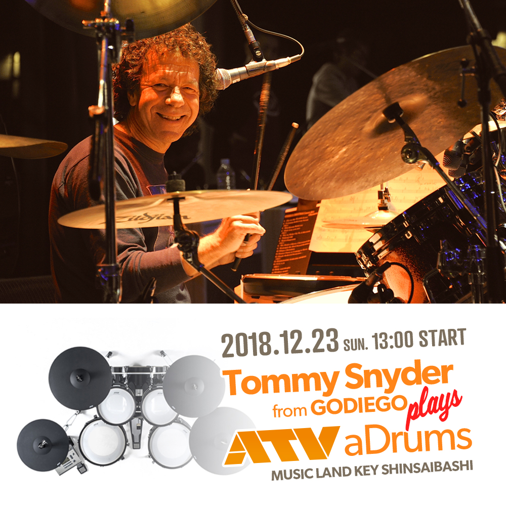 Tommy Snyder from GODIEGO plays ATV aDrums 【KEY心斎橋店】